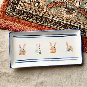 Whimsy Home by Magenta Rabbit Bunny Easter Platter